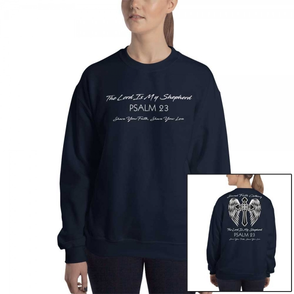 Psalm 23 Christian Women's/Unisex Sweatshirt